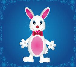 Cute Cartoon Bunny Rabbit Vector Art