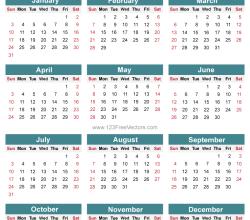 Free Editable 2016 Calendar