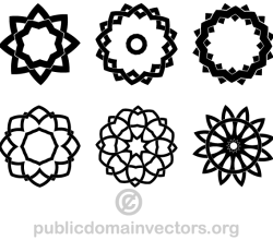 Decorative Geometric Design Elements Shapes
