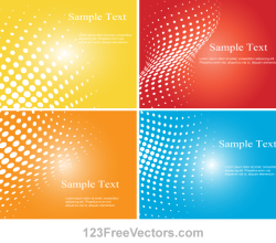 Halftone Dot Colorful Background Vector Illustrator