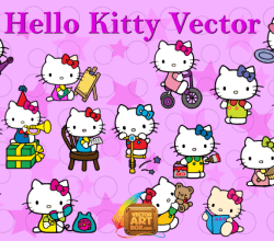 Vector Art Hello Kitty