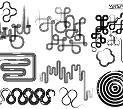 Line Art Design Elements Vector Set-1