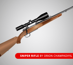 Free Sniper Rifle  Vector Art