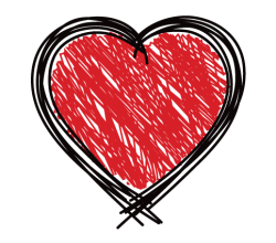 Scribble Heart Vector Art