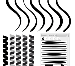 Coil and Line Illustrator Brushes
