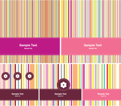 Greeting Card Design with Colorful Stripe Background Vector