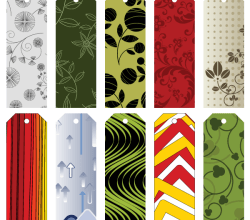 Vector Gift Tags and Bookmarks Collection