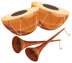 Free Tabla with Shehnai Vector Graphics