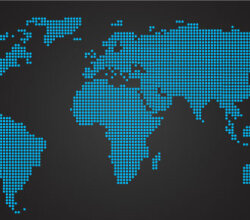 World Map Dots