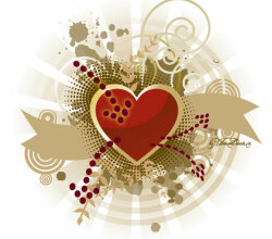Abstract Heart Vector Background
