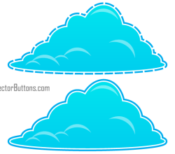 Cool Blue Fluffy Clouds Vectors Free
