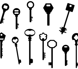 Vector Art Key Silhouettes