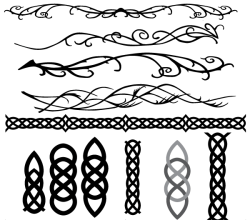 Celtic and Elvish Decoration Flourish Vector Art