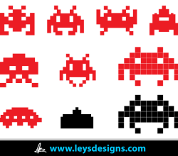 Vector Space Invader Icons