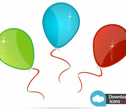 Vector Icon Colorful Balloons