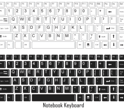 Free Vector Notebook Keyboard
