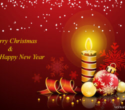 Vector Christmas and New Year Greeting Card