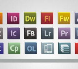 Adobe Cs Logo Icons Vector