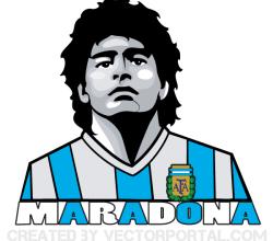 Maradona Vector Image