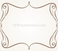 Vector Ornament Frame Illustration