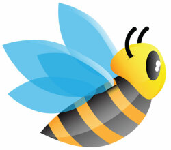 Free Cartoon Bee Vector