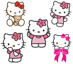 Hello kitty vectors Free