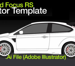 Ford Focus RS Vector Template