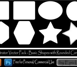 Vector Geometric Shapes Illustrator Pack
