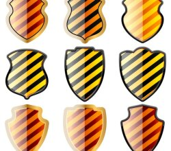 Glossy Shield Free Vector