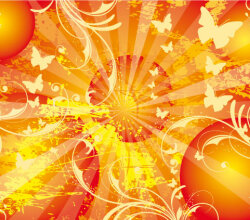 Vector Sun Background Poster Design