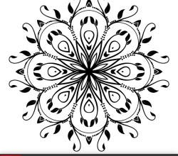 Ornate Floral Design Element Vector Art