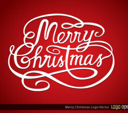 Merry Christmas Logo Vector