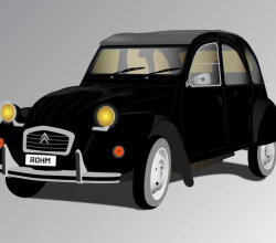 Vector Old French Car: Deux Chevaux