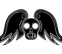 Vector Winged Skull