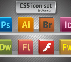 CS5 Icons Free Vector Pack