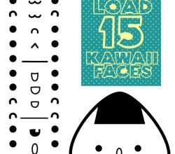 Vector Kawaii Faces
