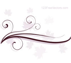 Abstract Swirl Floral Vector Background