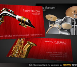 Vector Musicians Business Cards Designs Set-2