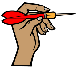 Vector Hand Holding a Dart Arrow