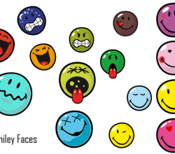 Smiley Face Free Vector Pack