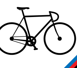 Track Bike Silhouette Vector