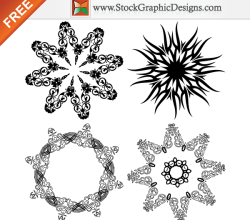 Beautiful Ornate Design Elements Free Vector Art