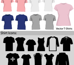 Free Vector Blank T-Shirt Template