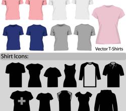 Free Vector Blank T-Shirt Template