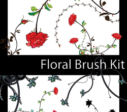 Floral Illustrator Brush Pack
