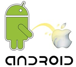 Android vs Apple Vector Image