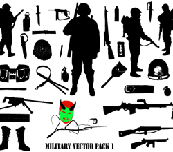 Free Military Vector Silhouettes Download