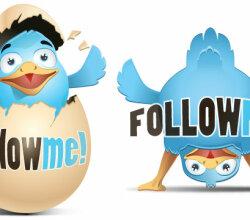 Twitter Bird Icons Set