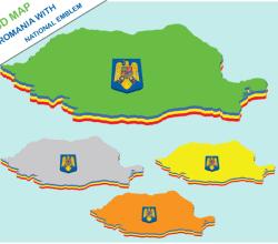Vector Romania 3d Map