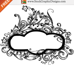 Hand Drawn Floral Frames Free Vector Designs
